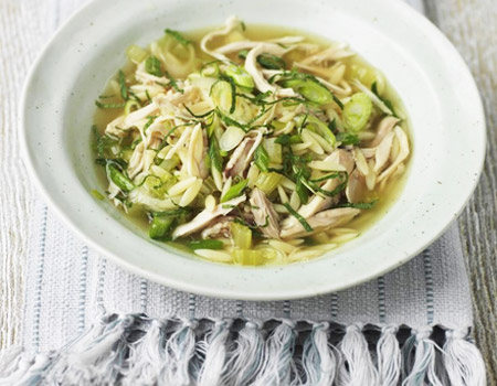 Chicken, Orzo and Mint Broth