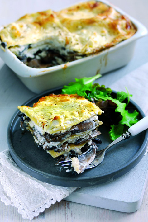 Lasagne with Mushrooms and Frech Goat's Cheese Log Sophie ...