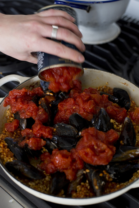 how to cook frozen mussels in the oven