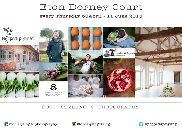 workshop food styling photography flyer