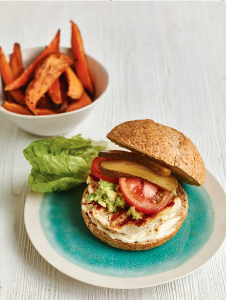 Ultimate Chicken and Avocado Burger